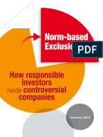 Norm-based exclusions; how responsible investors handle controversial companies.  - Thierry Polla