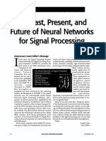 The Past Present and Future of Neural Networks for Signal Processing