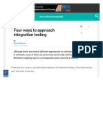 Four Ways to Approach Integration Testing2