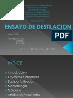 Ensayo Destilacion