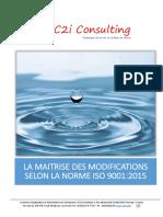 Article Maîtrise des Modifications dans la norme ISO 9001:2015