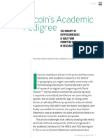 Bitcoin's Academic Pedigree