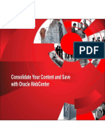 condolidate your content and save with oracle webcenter