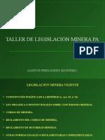 Taller de Legislación Minera