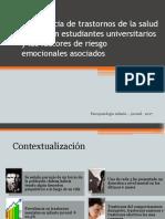 Prevalencia de Trastornos Mentales en Universitarios