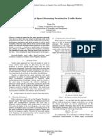 CS195 Improvement of Speed Measuring Precision for Traffic Radar