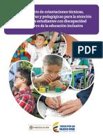 Atencion a Estudiantes Con NEE en El Marco de La Educacion Inclusiva