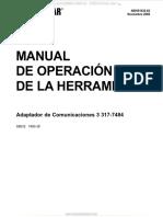Manual Operacion Herramienta Grupo Adaptador Comunicaciones 3 317 7484 Caterpillar Analisis Datos