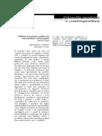 Artigo - Políticas Da Imanência - Antonio Negri