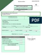 Impot Sur Revenu Declaration Des Traitements Salaires Doc