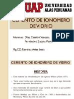 Cemento de Ionomero de Vidrio Exposicion