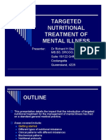 Targeted Nutritional Treatment of Mental Illness (1)