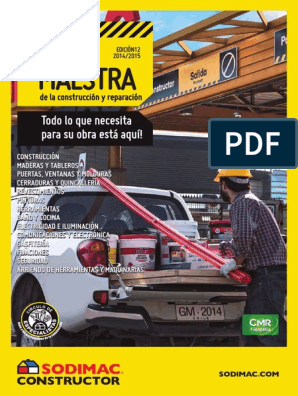 Sodimac Guía Maestra 2015 Pdf Hormigón Cemento