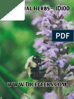 Medicinal Herbs - 1D100