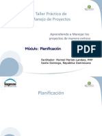 Seminario Avanzado de Gestión de Proyectos - Planificación Modulo 1