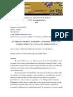 """Aaraoz Ortiz - Ponencia Ucse Eje 6LOS DIARIOS """"POPULARES"""