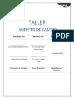 Taller Agentes Del Cambio