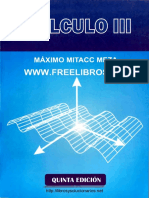 Cálculo III  5ta Edicion  Máximo Mitacc Meza