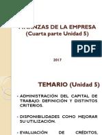 Finanzas de La Empresa-ADMINISTRACIÓN DEL CAPITAL DE TRABAJO
