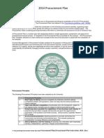 Procurement Plan Instructions 2014
