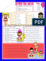 11082 Present Perfect Tense Since For