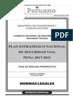 DS-019-2017-MTC Plan Estratégico Nacional de Seguridad Vial 2017-2021