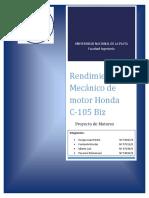 2012-6 Rendimiento Mecanico Honda Biz