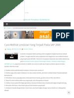 Cara Melihat Lendutan Yang Terjadi Pada SAP 2000 - Argajogja's Blog
