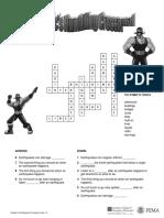 Earthquake Solution for Crossword Level1