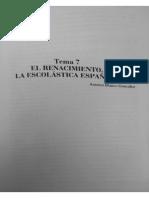 Renacimiento Escolástica Española Racionalismo (1)