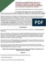 NOM-022-SSA2-1994, Brucelosis en el hombre.pdf