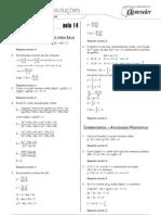 Matemática - Caderno de Resoluções - Apostila Volume 3 - Pré-Universitário - mat3 aula14