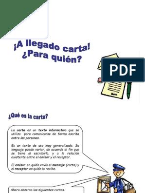 Carta Informal Puntuación Comunicación Humana
