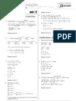 Matemática - Caderno de Resoluções - Apostila Volume 3 - Pré-Universitário - mat4 aula12