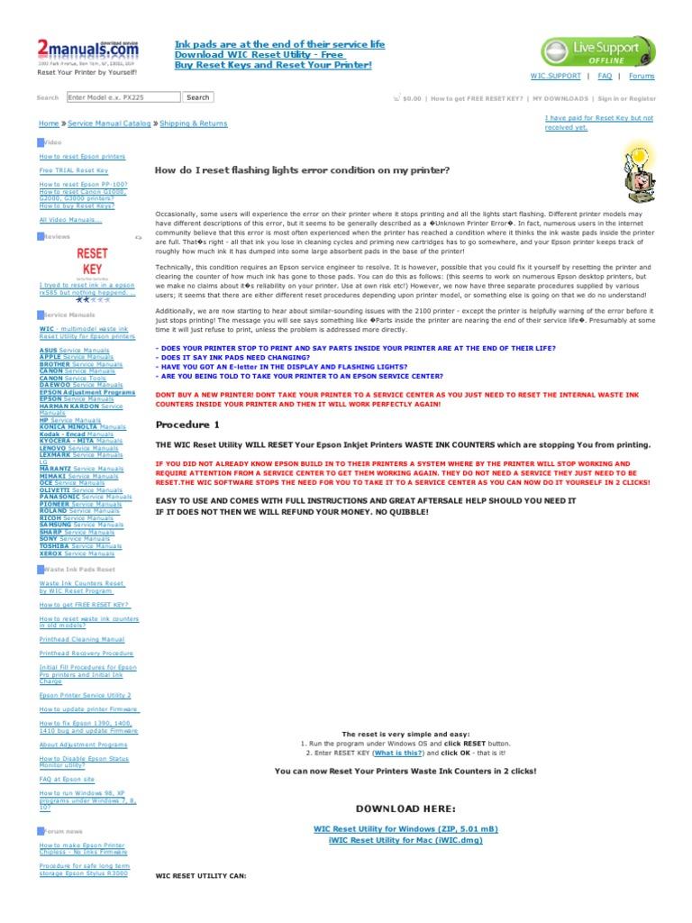 Como Resetear Impresoras Empson | Printer (Computing) | Office Equipment
