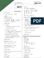 Matemática - Caderno de Resoluções - Apostila Volume 3 - Pré-Universitário - mat4 aula15