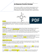 Free-body Diagrams Practice Package