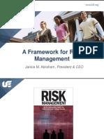 Frame Work for Risk Management