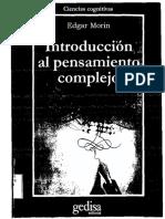 Edgar Morin_introduccion Al Pensamiento Complejo