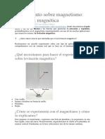 Experimento Sobre Magnetismo