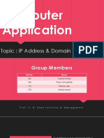 Ip address & domain name system