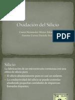 Oxidación de Silicio