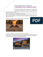 Sensaciones y Materiales en La Arquitectura