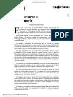 La Jornada_ Renovarse o Morir