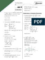 Matemática - Caderno de Resoluções - Apostila Volume 4 - Pré-Universitário - mat1 aula18