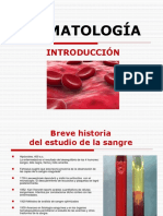 Tema i y II Introduccion, Origen y Desarrollo de La Sangre y Tejidos Hematopoyeticos (Rcs 2017)