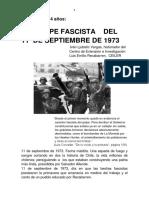 El Golpe Fascista Del 11 de Septiembre de 1973, por Iván Ljubetic