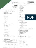 Matemática - Caderno de Resoluções - Apostila Volume 4 - Pré-Universitário - mat3 aula17