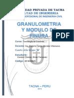 Granulometria y Modulo de Finura
