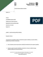 Devolución de Aportes, Modelo Carta de Solicitud (MEN)